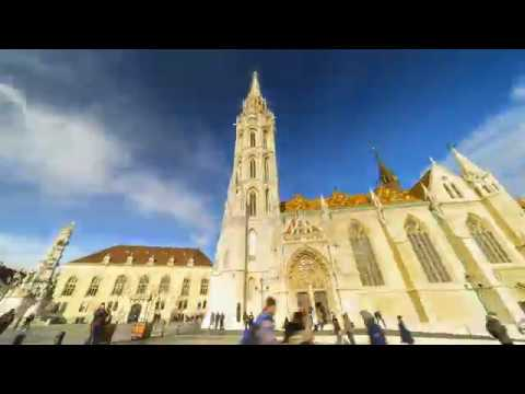 Motion timelapse of St. Matthias Church in Budapest, Hungary