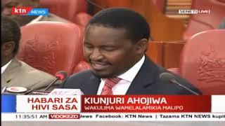 Waziri wa Kilimo Mwangi kiunjuri ahojiwa kuhusu maswala ya kilimo