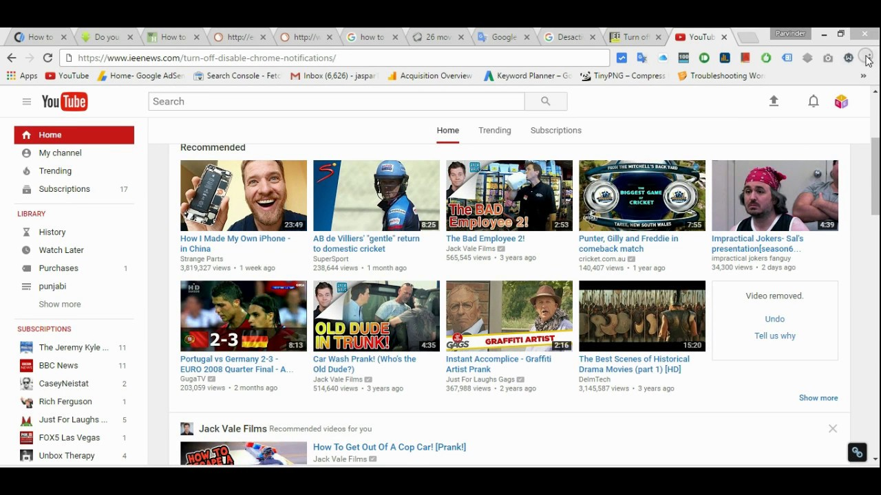 How To Turn Off Youtube Notifications On Google Chrome