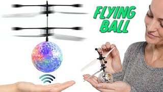 Flying Colored Flashing LED RC Ball! Hover Ball Helicopter