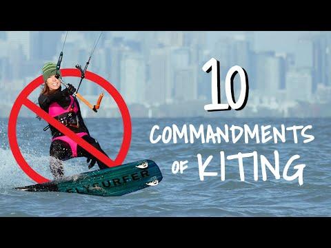 10 Commandments Of Kitesurfing