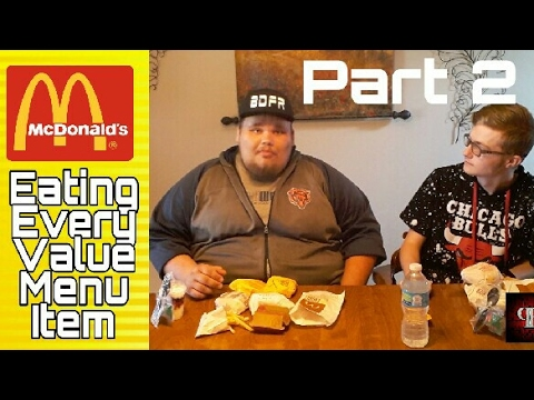 Eating McDonald's Entire Value Menu Challenge/Food Review! Part 2