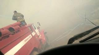 Поджог травы в Киренске