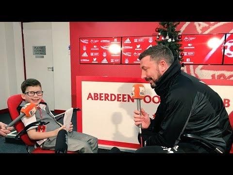 Derek McInnes interviewed by  'The Kid in the Kit Room!'