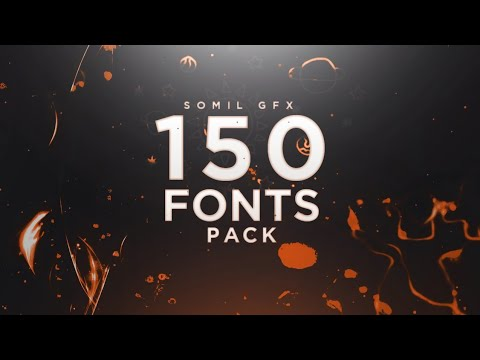 150 Cool Fonts Pack For Android / Pc | Best Fonts Ever | Free Download | Somil Gfx