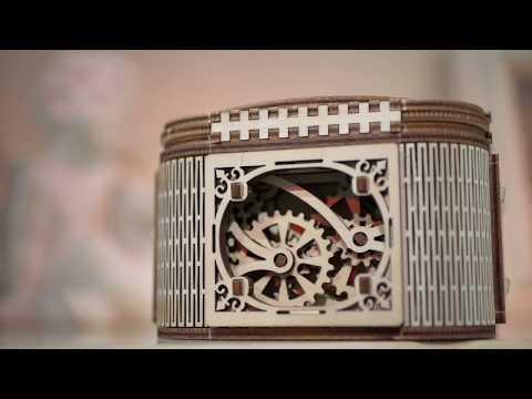 【海思】Ugears -珠寶盒 Treasure Box 來自烏克蘭.橡皮筋動力.機械驚奇 ! 科學玩具