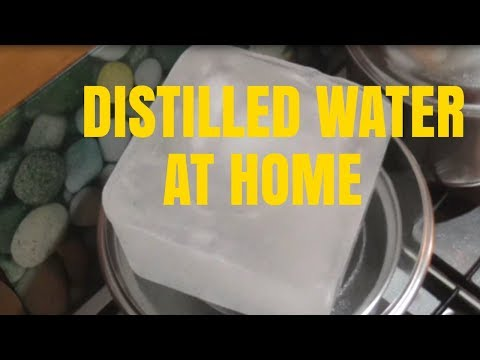 How to make distilled water in lab