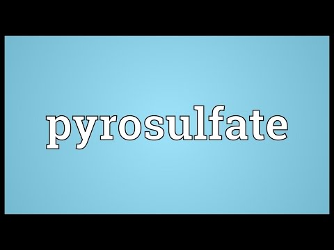 Header of pyrosulfate