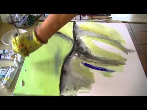 Acrylmalerei Abstract Acrylic Painting Savage V143 Youtube