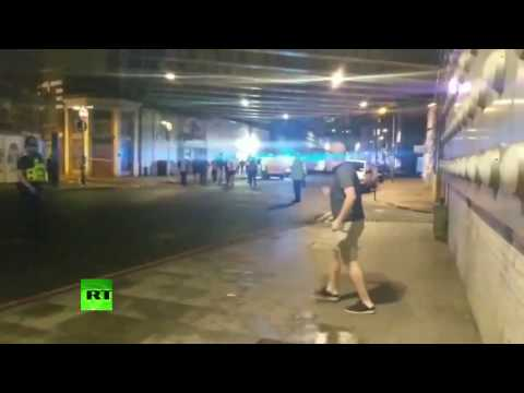 Londoners run away from London Bridge van attack