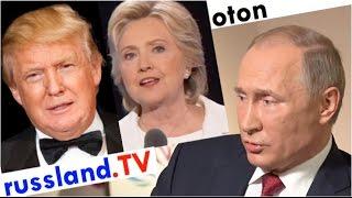 Putin zu Trump & Clinton auf deutsch