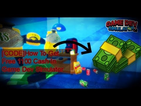 Code Give You Free 1100 Cash In Game Dev Simulator Roblox