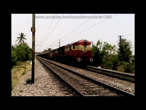 Great Indian Railways : Petrol Freight Train meets superfast Express Train.