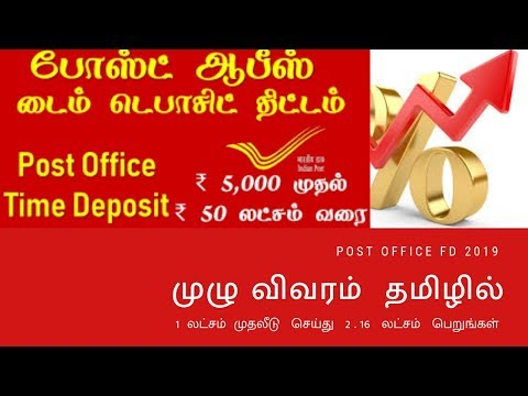 Post office Time Deposit savings schemes TD in Tamil /போஸ்ட்