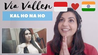 Video Via Vallen- Kal Ho Na Ho (cover)-- Reaction Video! download MP3, 3GP, MP4, WEBM, AVI, FLV Agustus 2018