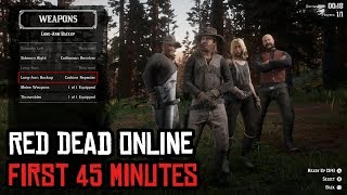 Red Dead Online - First 45 Minutes of Gameplay