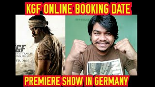 KGF Online tickets booking Date | kgf craze in Germany |Yash | Hombale films | Prashanth Neel |