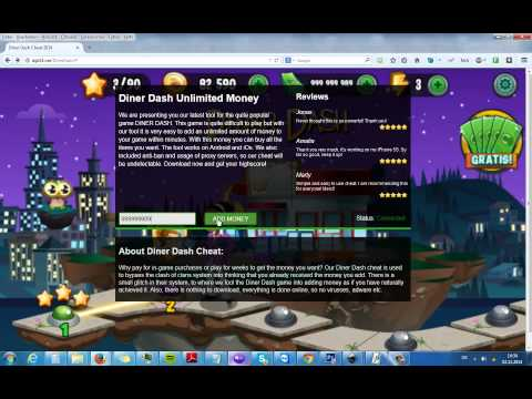 How To Get Unlimited Amount Of Money For Diner Dash [WORKING] [NOVEMBER 2014] [HACK/CHEAT]