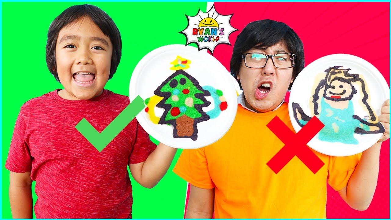 Download PANCAKE ART CHALLENGE Christmas Edition! Learn how to do DIY Pancake Art!!