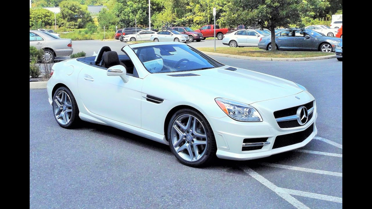 2016 mercedes benz slk350 slk class roadster start up review and tour youtube