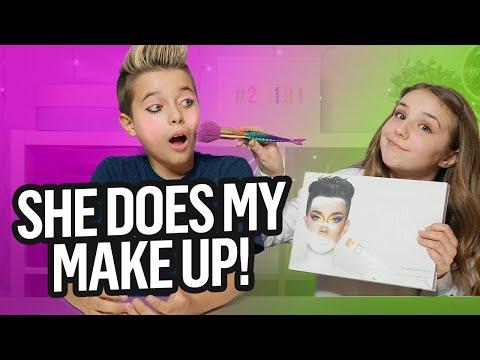 Piper Rockelle Does My MakeUp Ft. James Charles Palette | Gavin Magnus thumbnail