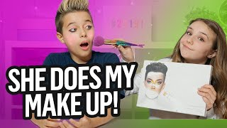 Piper Rockelle Does My MakeUp Ft. James Charles Palette  Kiss?
