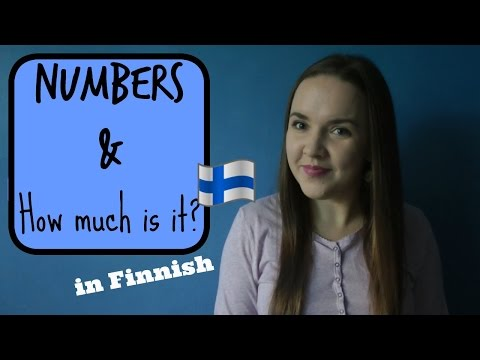 Finnish lesson 5. (Numbers. How much is it?) Opiskele suomea. Уроки финского языка.