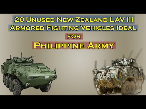 Unused New Zealand LAV III 8x8 AFV Ideal for Philippine Army