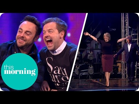 Eamonn and Ruth Gatecrash Ant and Dec's Saturday Night Takeaway Rehearsals | This Morning