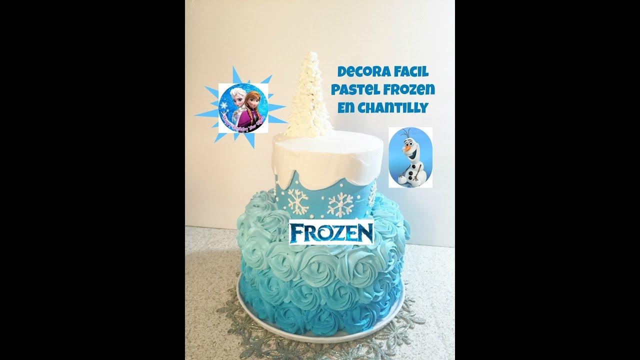 Torta De Frozen Muy Fácil Y Rápida Aprende A Decorarla Paso A Paso