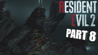 INTENSE BOSS BATTLE!   Resident Evil 2 REMAKE Leon GAMEPLAY PART 8