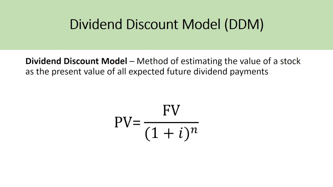 How To Use Dividend Valuation Methods To Value A Stock YouTube