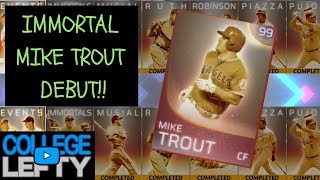 IMMORTAL MIKE TROUT DEBUT!! RANKED SEASONS VS A SUBSCRIBER?! MLB THE SHOW 18