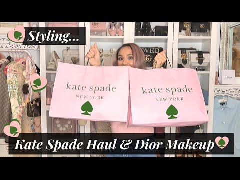 Styling Kate Spade ♠️ Haul + Dior Makeup 💄🎀