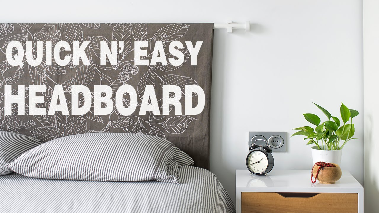 How to make a Bedroom Headboard | Quick and Easy project