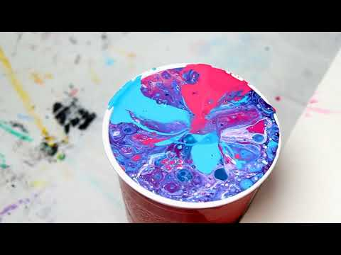 Acrylic Dirty Pour Experiment Rio with Old Paint (60) WE ARE BACK!!!!!