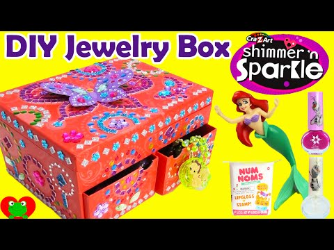 DIY Cra-Z-Art Mosaic Jewelry Box with Disney Princess Num No