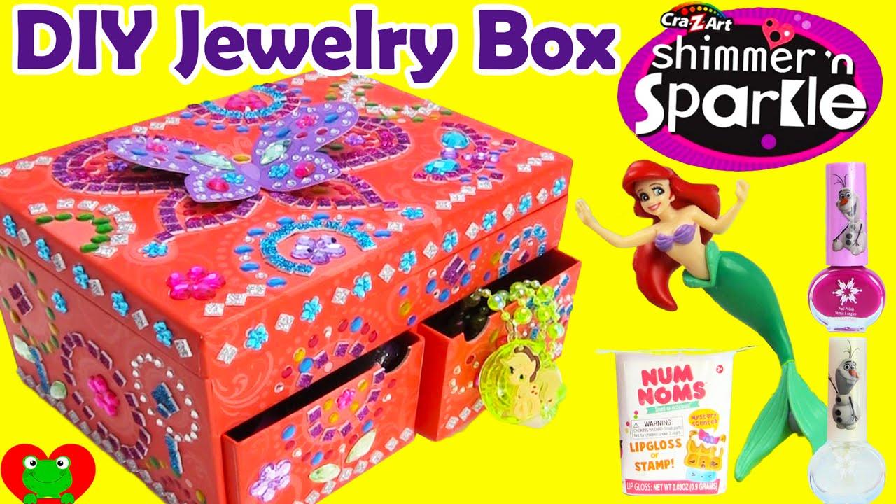 DIY CraZArt Mosaic Jewelry Box with Disney Princess Num Noms
