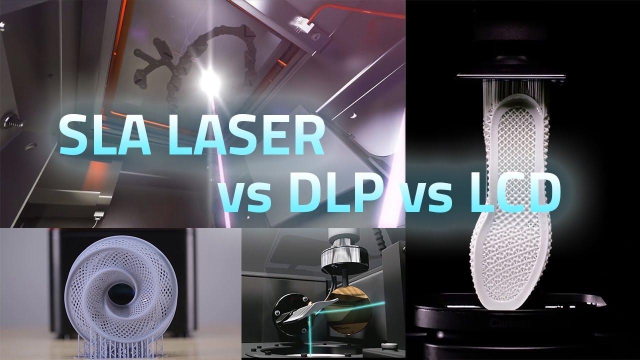 SLA LASER vs DLP vs LCD (Imprimantes 3D à résine liquide