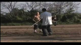 FELONY FIGHTS 6.6 WHITE SKINHEAD vs. Karate Kid! eats his face!