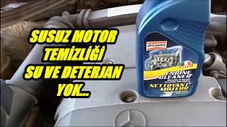 Susuz Motor temizleme Su ve deterjan yok.