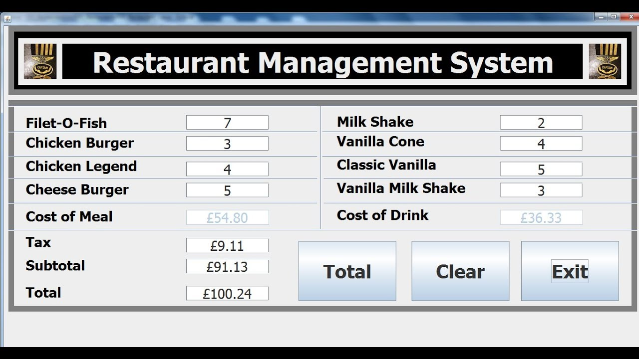How to create an object oriented restaurant management system in how to create an object oriented restaurant management system in java eclipse part 2 of 2 pooptronica