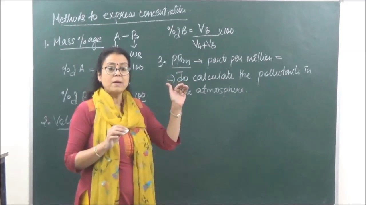 Chem xii 2 1 method of expressing concentration 2017 pradeep kshetrapal physics channel