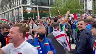 Atmosfera Ispred Vemblija Uoči Meča Italija - Španija | EURO 2020 | SPORT KLUB FUDBAL