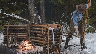 3 Sided Firewall & Cooking Tri-pod - Building a Long-term Camp   Entry: 009 - Camp Firlend