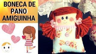 BONECA DE PANO AMIGUINHA DO CORAÇÃO – PASSO A PASSO COM MOLDE GRATUITO