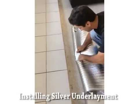 How To Install Silver Laminate Flooring Underlayment Youtube