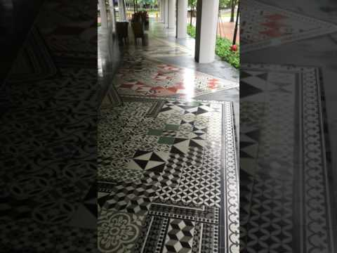 EQUINOX cement tiles at M-Social Hotel Singapore