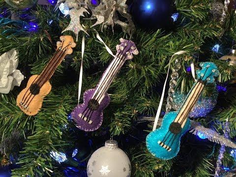UKULELE CHRISTMAS TREE ORNAMENT - HOW TO MAKE A FELT UKULELE