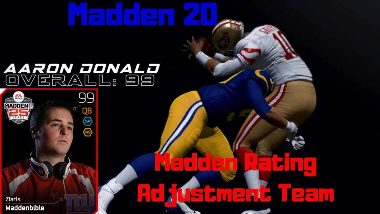 Madden 20 News E 60 Madden Adjustment Program And Nfl Players React To Ratings Youtube